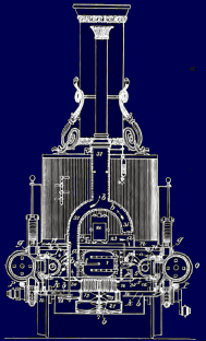 "Ross Winans 1837 Design ""Coal Crab"" Front View"